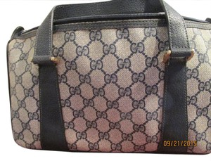 Gucci Satchel in navy blue gucci iconic