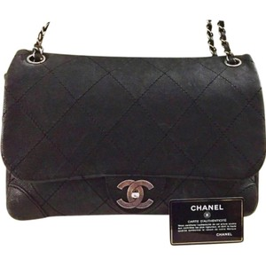 Chanel Silver Hardware Card Caviar Leather Classic Single Flap Shoulder Bag