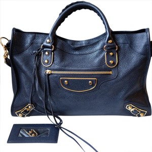 Balenciaga Satchel in Dark blue/navy