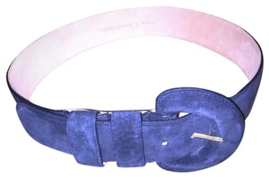 Lord & Taylor Lord & Taylor Large Navy Blue Suede Belt *New*