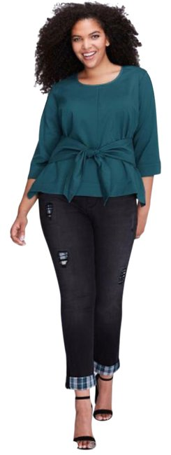 Item - Dark Teal Lane Bryant Tie Front Blouse Size 22 (Plus 2x)