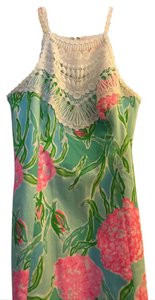 Lilly Pulitzer short dress Turquoise, pink floral on Tradesy