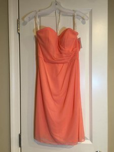 David's Bridal Coral Red 30112707 Dress