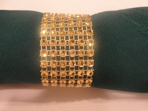 200 Gold Bling Rhinestone Style Napkin Rings Decoration Party