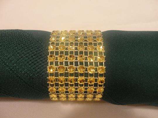 Gold 200 Bling Rhinestone Style Napkin Rings Party Reception Decoration