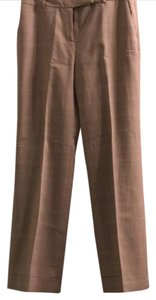 Ann Taylor LOFT Flare Pants Tan plaid