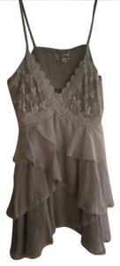 Cecico Gemma Lace Ruffles Top Gray