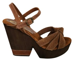 Sbicca Brown Multi Wedges