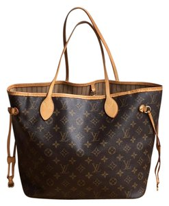 Louis Vuitton Mm Neverfull Monogram Dust Vuitton Tote in brown