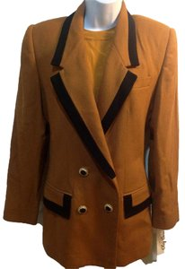 Oleg Cassini tan black Blazer