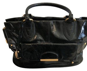 Tod's Patent Leather Satchel in Black