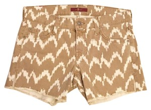 7 For All Mankind Cut Off Shorts brown