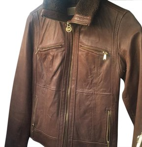 Michael Kors brown. Leather Jacket