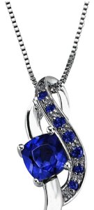 Kay Jewelers Sapphire Necklace Sterling Silver