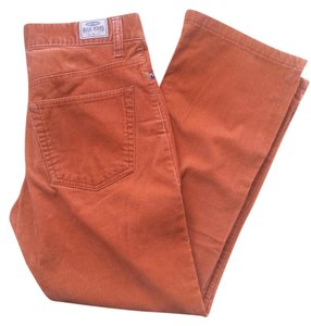 Old Navy Natural Waist Boot Cut Pants Burnt Orange Courderoy