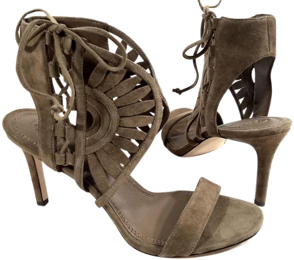 0c7136dbc Tory Burch Suede Laser Cut Detail Strap Bands Lace-up Side Imported RIVER  ROCK Sandals ...