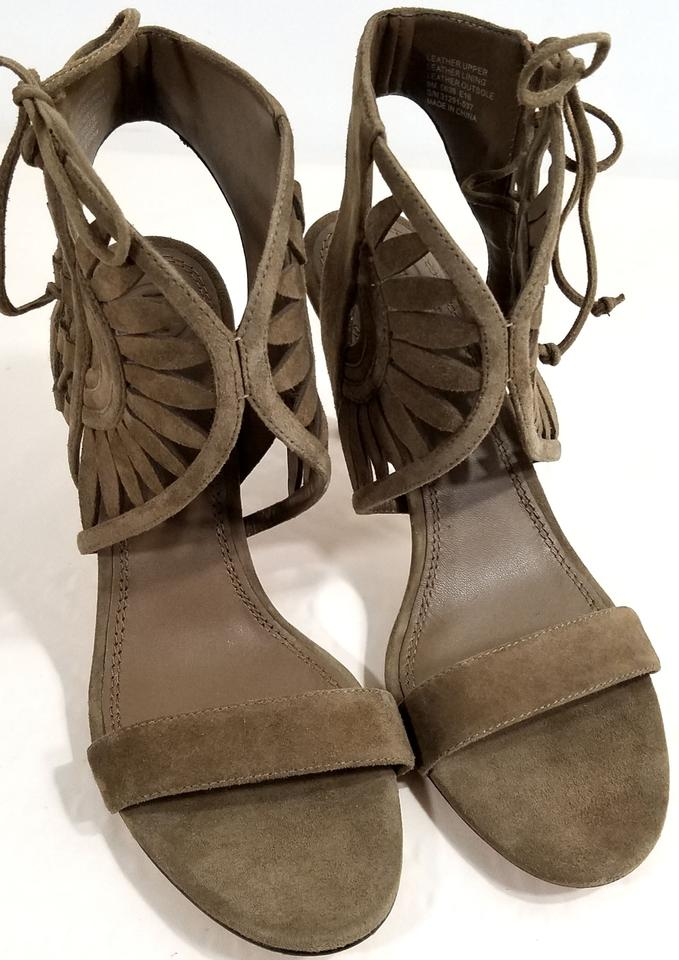 1b3471a84c29 Tory Burch Suede Laser Cut Detail Strap Bands Lace-up Side Imported RIVER  ROCK Sandals. 12345678910