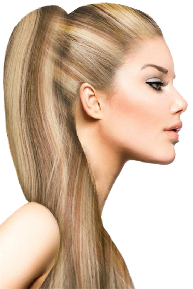 P8 24 Blonde And Light Blonde Highlights Premium Remy Human Clip In