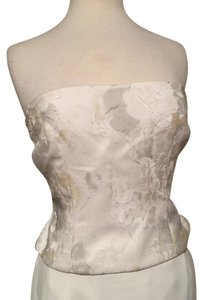 Kay Unger White multi Halter Top