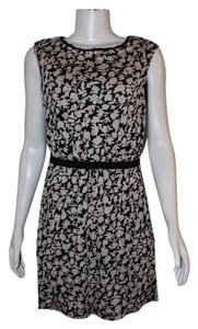 Ann Taylor LOFT short dress Black & White Floral on Tradesy
