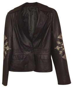 Sheri Bodell black Leather Jacket