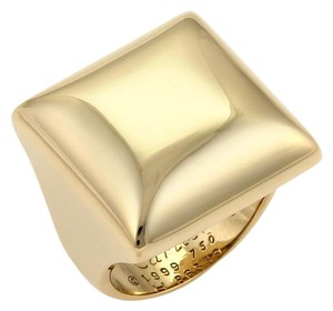 Cartier Vintage Cartier 18k Yellow Gold Square Top Ring