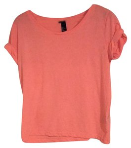 H&M T Shirt bright orange