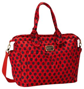 Marc by Marc Jacobs Eliza Tote Red Black Diaper Bag