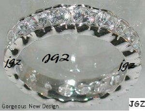 2.0 Ct Anniversary-eternity Band. .925 Sterling Silver * Size 7 * New