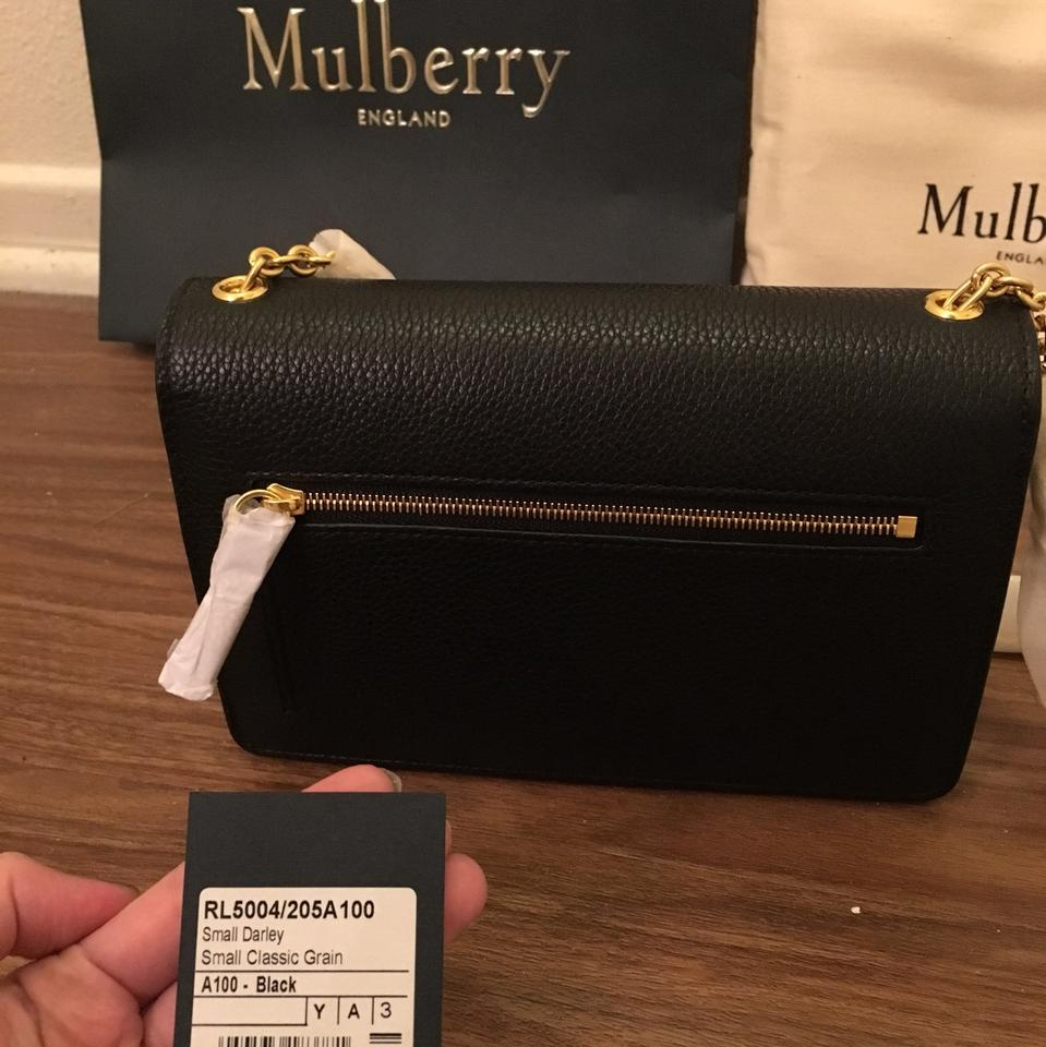 47fe86e55090 Mulberry Small Darley Black Natural Grain Leather Cross Body Bag - Tradesy