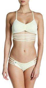 Maaji Maaji Banana Roads Strappy Reversible Soft Cup Bikini Top L Yellow
