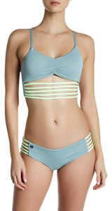 Maaji Maaji Balsam Roads Strappy Reversible Bikini Top M Green