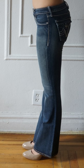 PRVCY Size 26 Medium Wash Boot Cut Jeans-Medium Wash Image 1