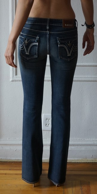 PRVCY Size 26 Medium Wash Boot Cut Jeans-Medium Wash Image 3