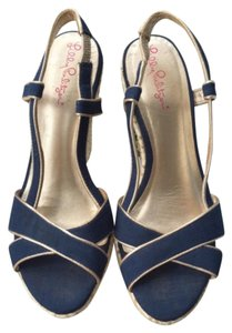 Lilly Pulitzer Blue Wedges