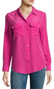 Equipment Silk Button Down Shirt Pink