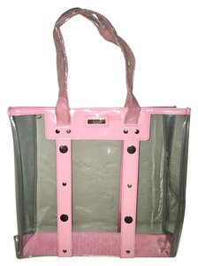Versace Light Pink-Clear Beach Bag