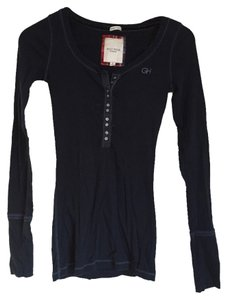 Gilly Hicks T Shirt Navy Blue