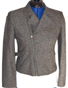 Ralph Lauren Asymetrical Wool Brown Blazer