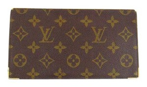 Louis Vuitton Rare Vintage Monogram Canvas Leather Oversized Long Wallet