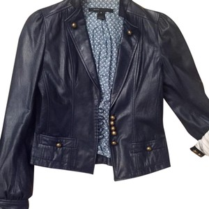Marc Jacobs navy Leather Jacket