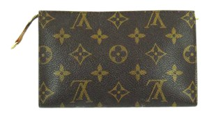 Louis Vuitton Pochette Toilette 17 Monogram Canvas Leather Cosmetics Travel Dopp Bag