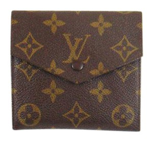Louis Vuitton Vintage Monogram Canvas Leather Trifold Wallet France
