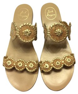Jack Rogers Gold Flecks Cork Design Lauren Gold Fleck/Cork Sandals