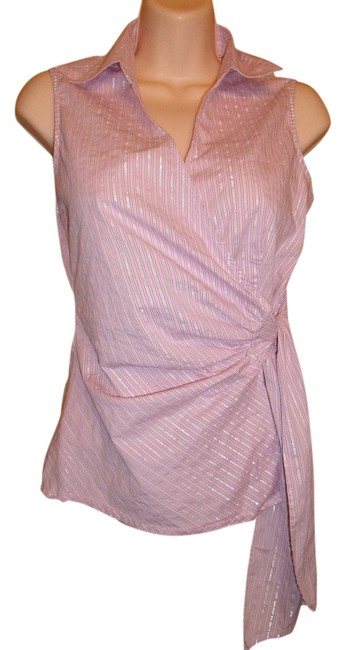 Preload https://img-static.tradesy.com/item/2086906/express-s-pink-wrap-wsilver-detail-blouse-size-4-s-0-0-650-650.jpg