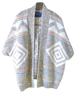 American Eagle Outfitters Bohemian Open Tribal Wool Sweater Wool Cardigan