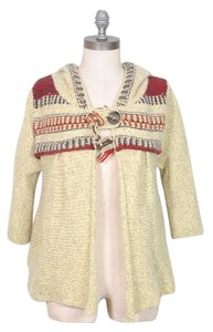 Free People Bohemian Tribal Fringe Sweater Cardigan