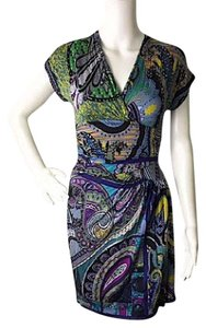 Etro short dress green on Tradesy