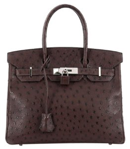 Hermès Ostrich Tote in marron