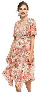 Anthropologie short dress pink 70's Floral Lace Hippie Sold Out on Tradesy